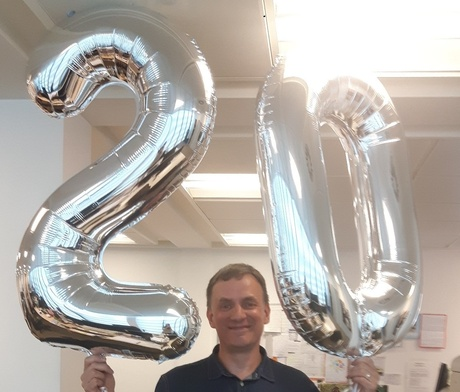 Ian Celebrates 20 Years at People First